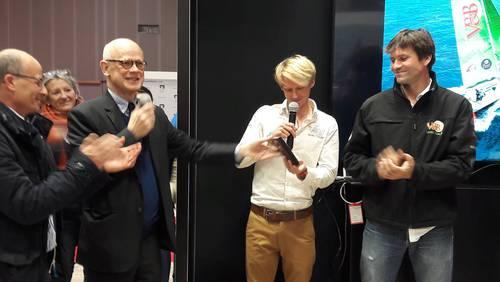 Remise de la Tape de Bouche de la SNBSM au Salon nautique de Paris