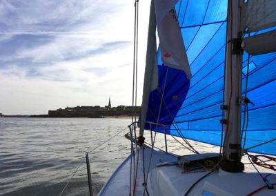 J80 voile habitable retour St Malo