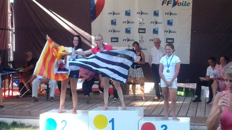 Elise Carlo : championne de France en laser 4.7 fille