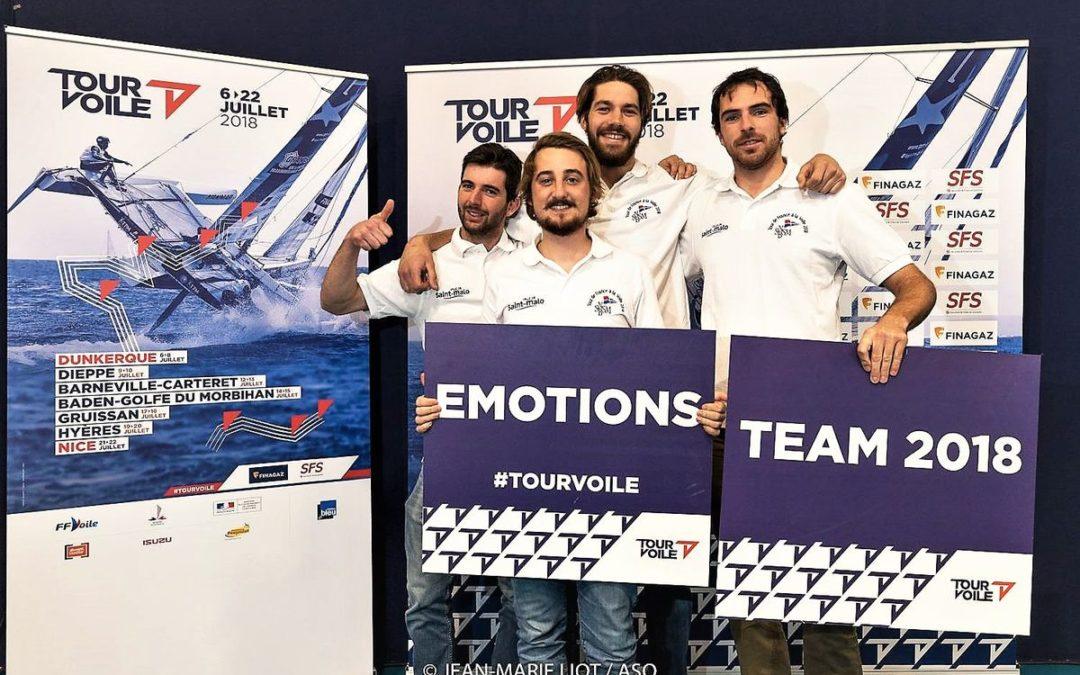 Présentation et lancement de l'équipage diam 24 Saint-Malo/SNBSM sur le Tour Voile 2018