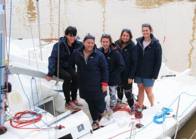 L'équipage féminin SNBSM / J80