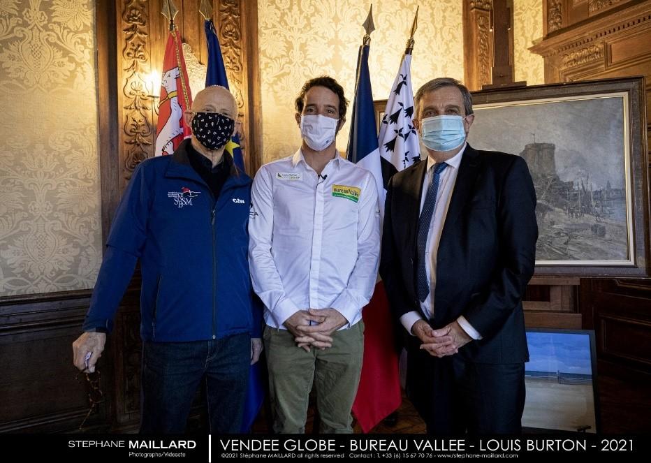 Photo de Louis Burton, Christian Rouxel et Gilles Lurton